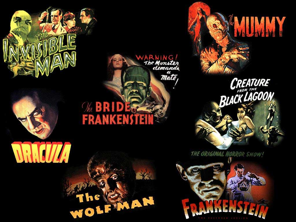 Classic monster and horror Classic Horror Monsters Wallpaper