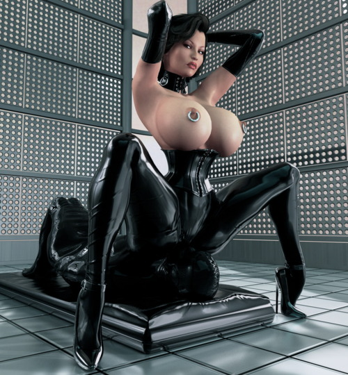 Latex big boob girl