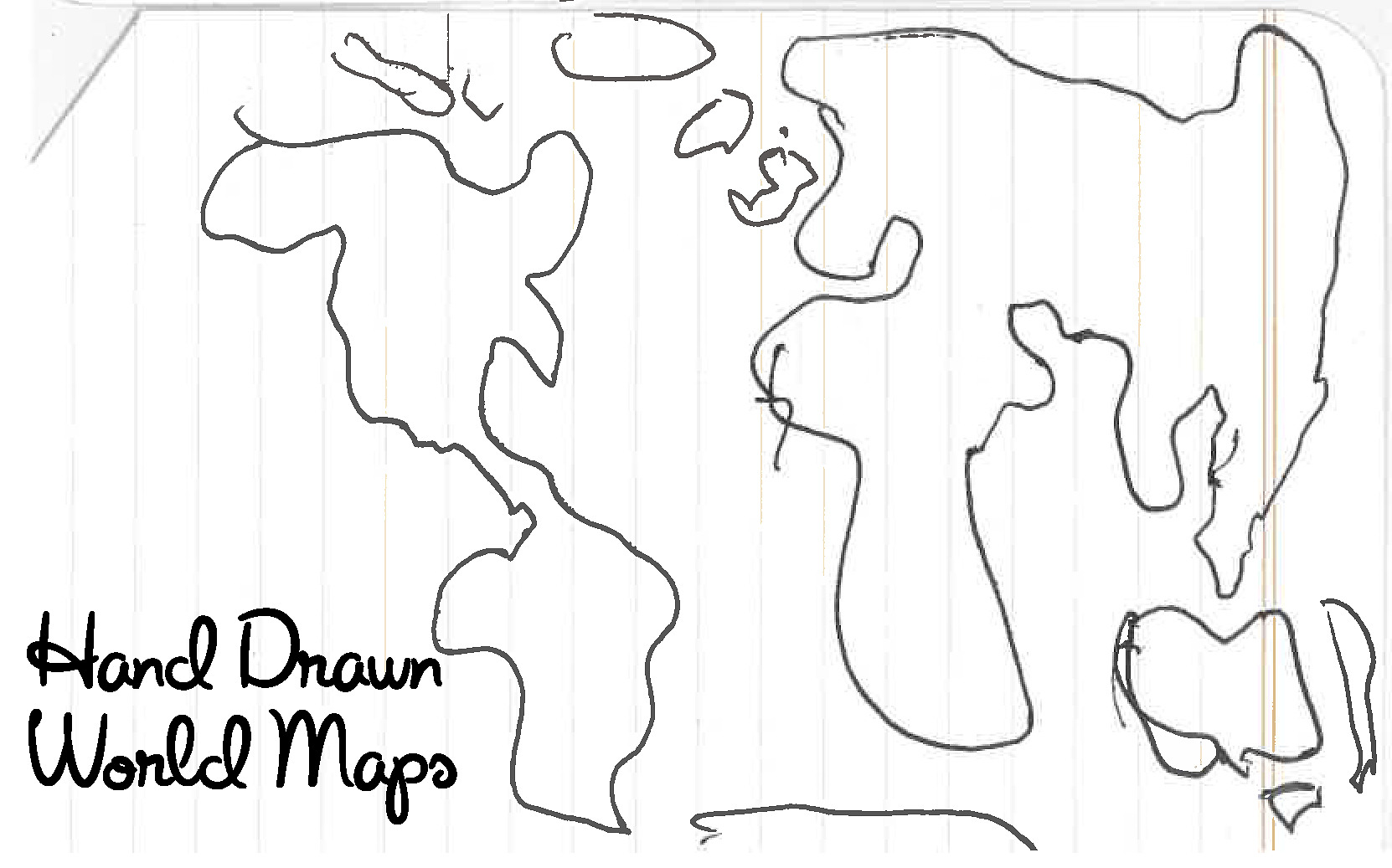 Hand Drawn World Maps