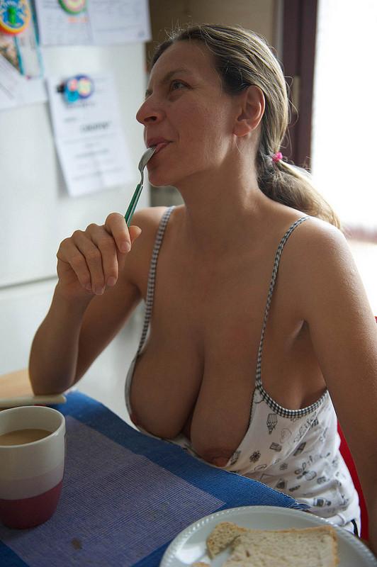 Nipple tease mature