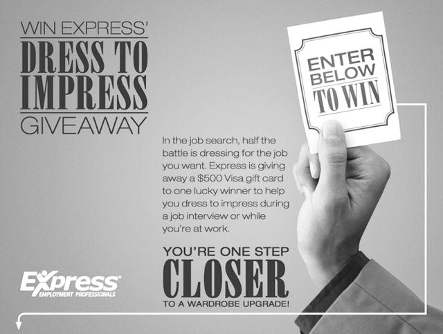Black dress express employee