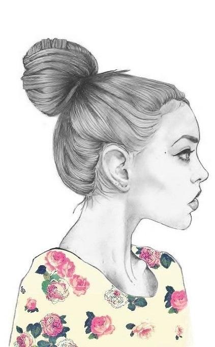 Рисунок красивой девушки карандашом