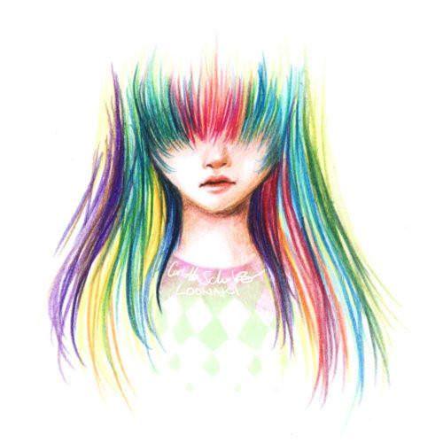 sondash girl meeting rainbow haired