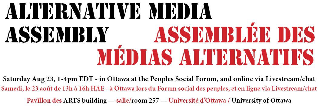 Alternative Media Movement Assembly: LiveStream