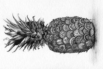pineapple tumblr drawing. pineapples. pineapple tumblr drawing