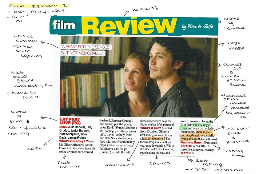 Write my reviews on new movies