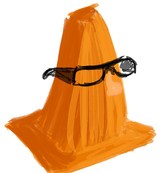 Traffic Cone Cartoon