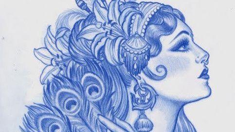 Medusa Neotradsub Neotraditional Woman Face Tats Tattoo