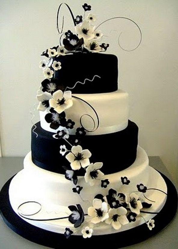 Best 25 Black And White Wedding Cake Ideas On Pinterest