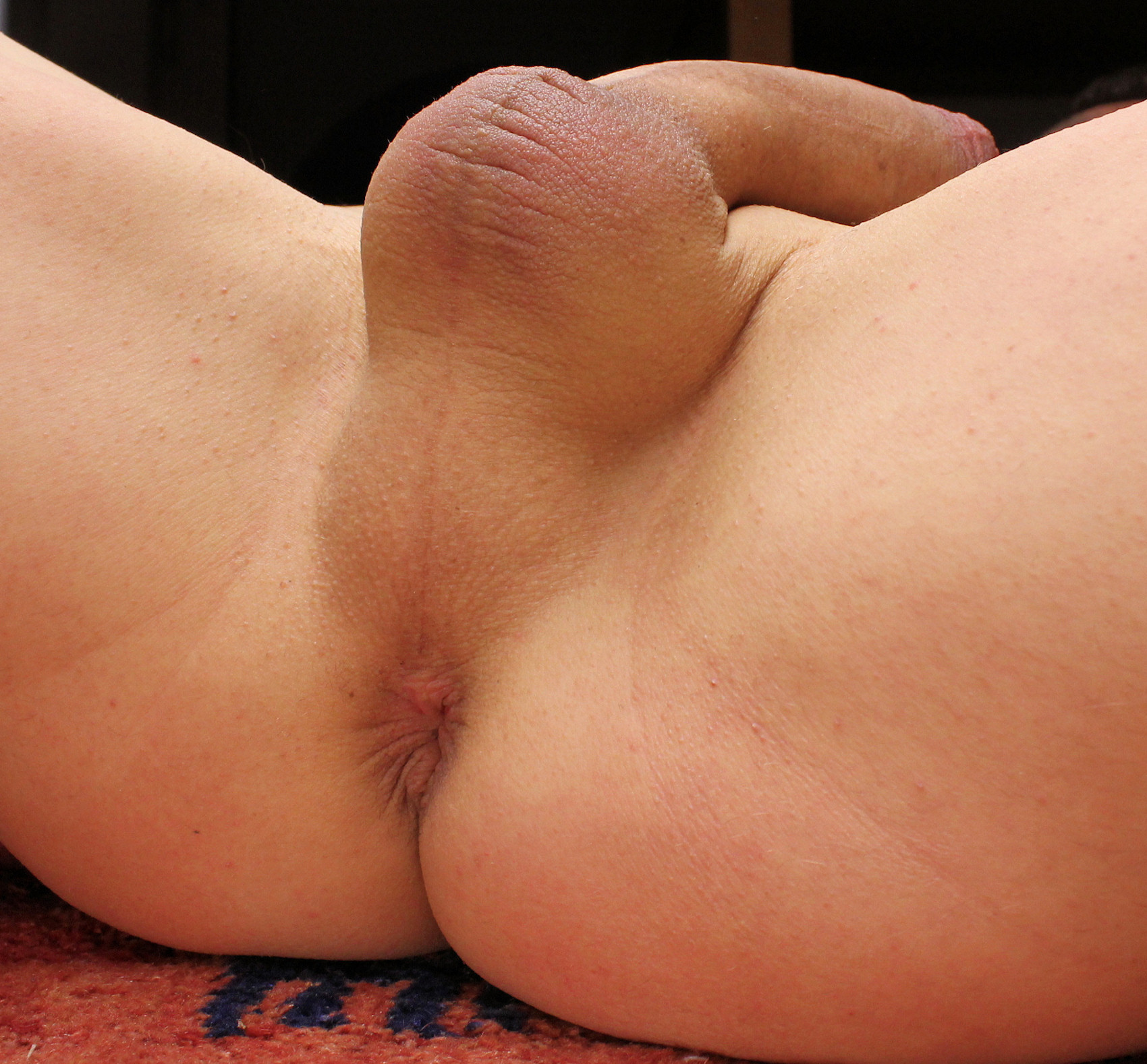Shaved cock balls ass naked that
