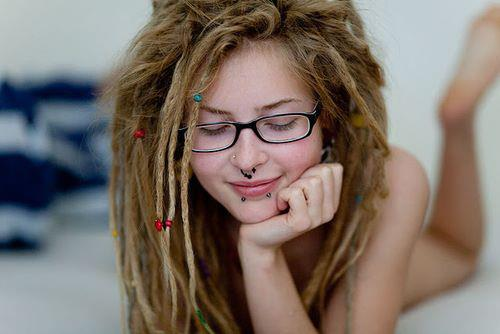 Pretty blonde girls with dreads