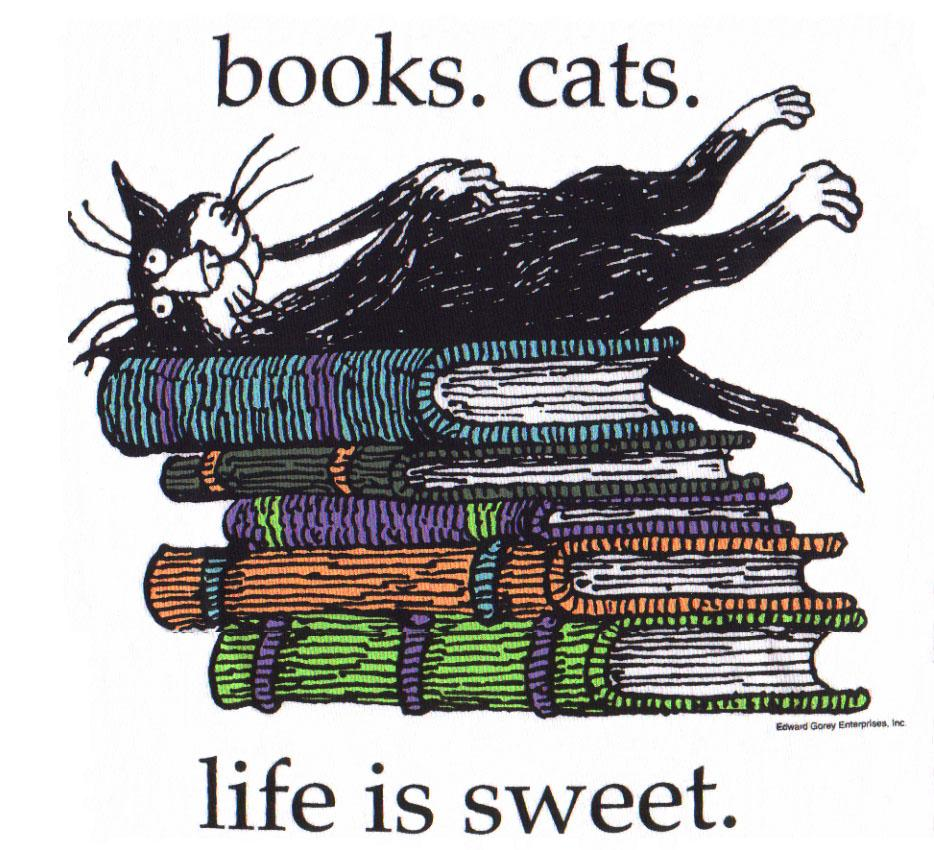 cats- books = sweet life