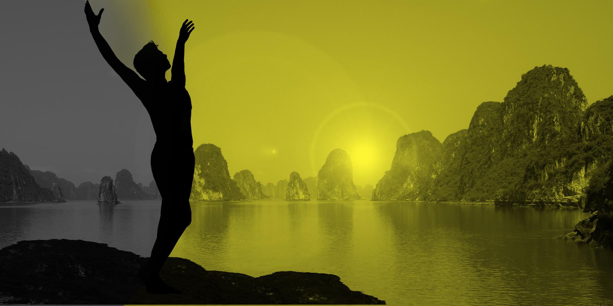Prehistoric Qi Gong — Holding the ball, follow the Dan Tian