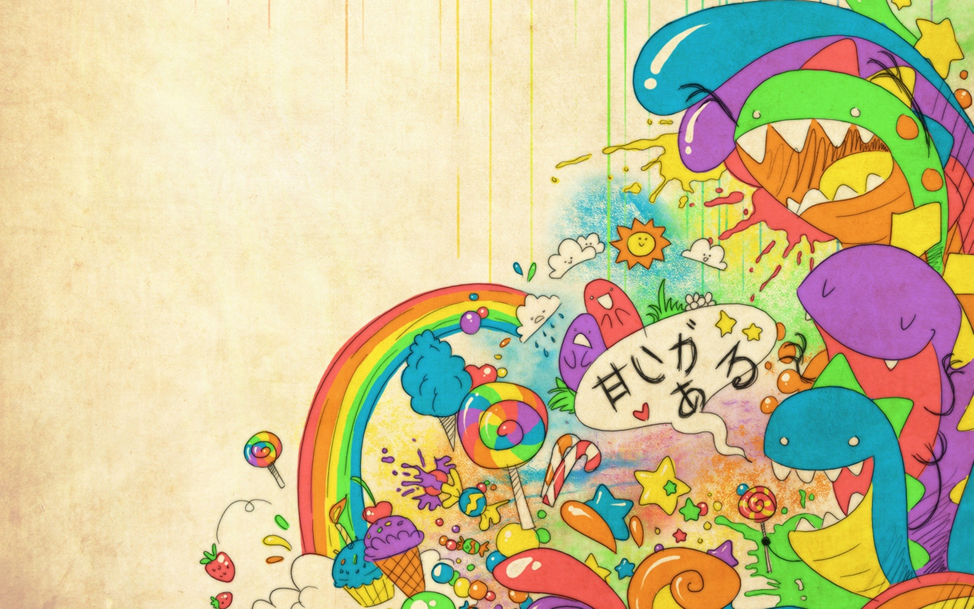 Must see Wallpaper Horse Colorful - tumblr_static_happy_sweet_rainbow  Gallery_14367.jpg