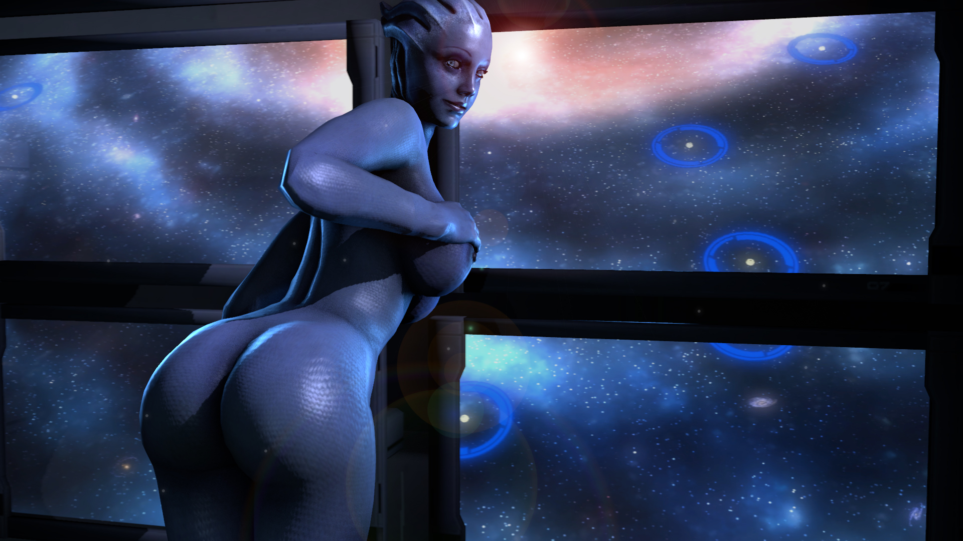 Wallpaper nude picture of mass effect anime movie