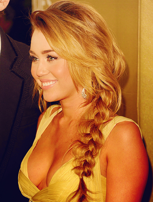 Miley cyrus long hair braid