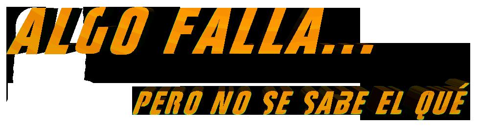 Algo Falla