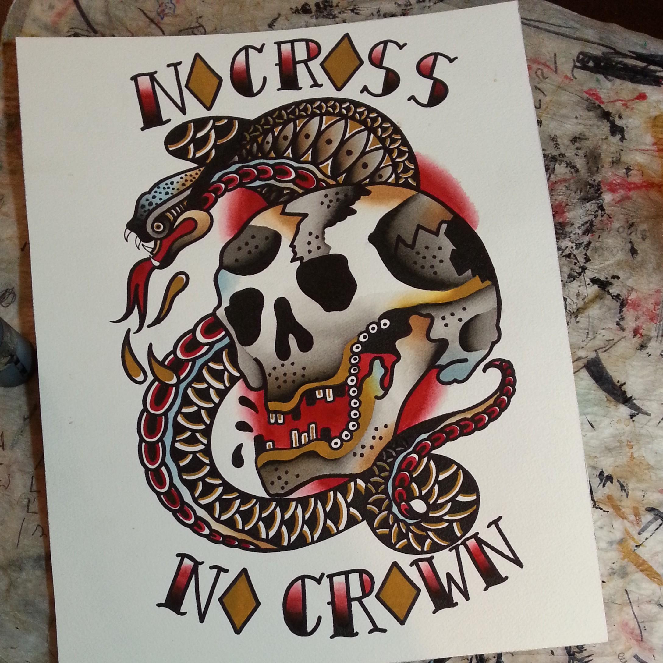 Crown tattoo on tumblr - Nocrossnocrowntattoocompany