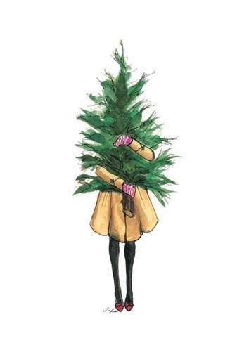 Merry hipster christmas for Cute tree drawing