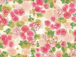 Free abstract floral pattern