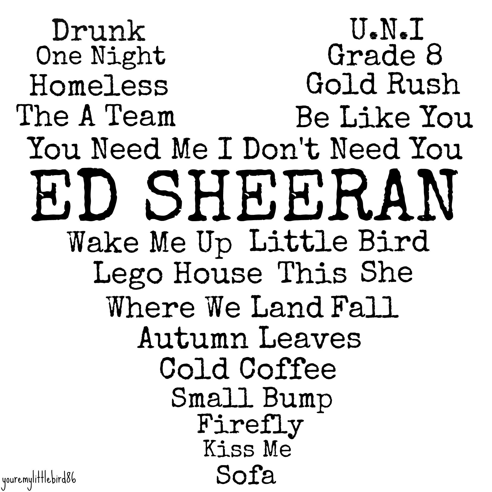 ed sheeran lyrics tumblr - photo #5