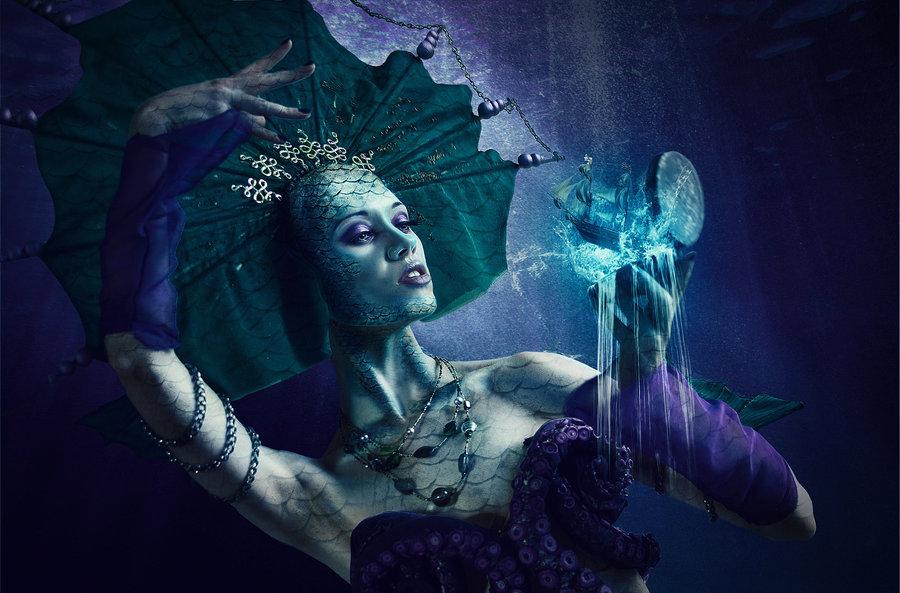 Beautiful witch fantasy art