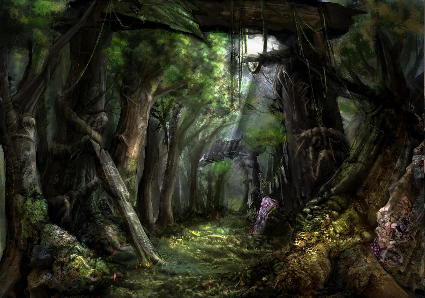 Resultado de imagen de fantasy forest tumblr