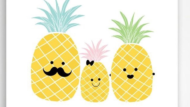 how to draw a cute pineapple