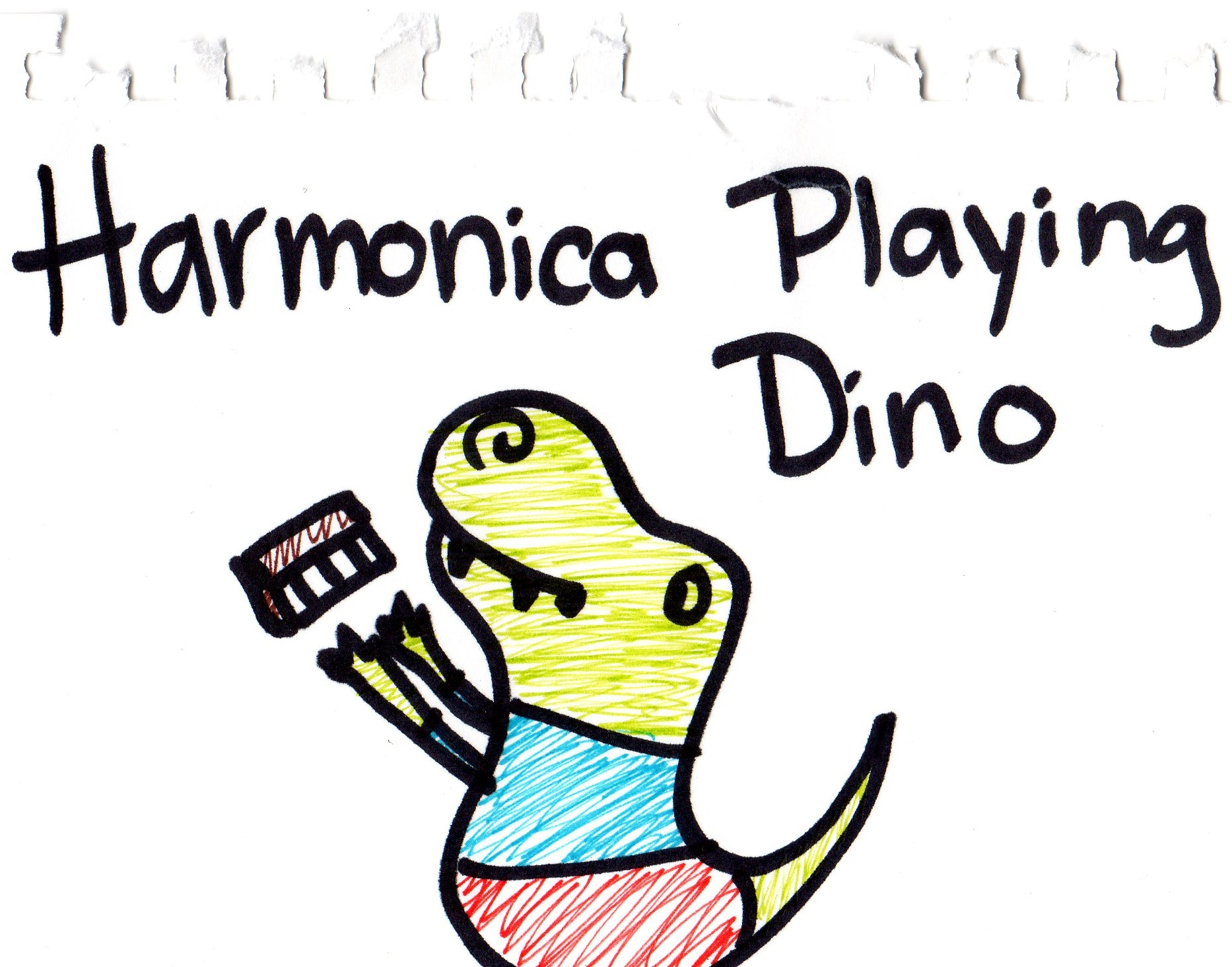 Harmonica Playing Dinosaur