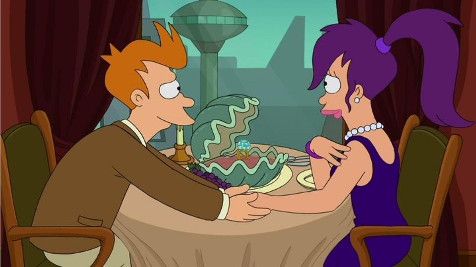 futurama fry and leela ending a relationship