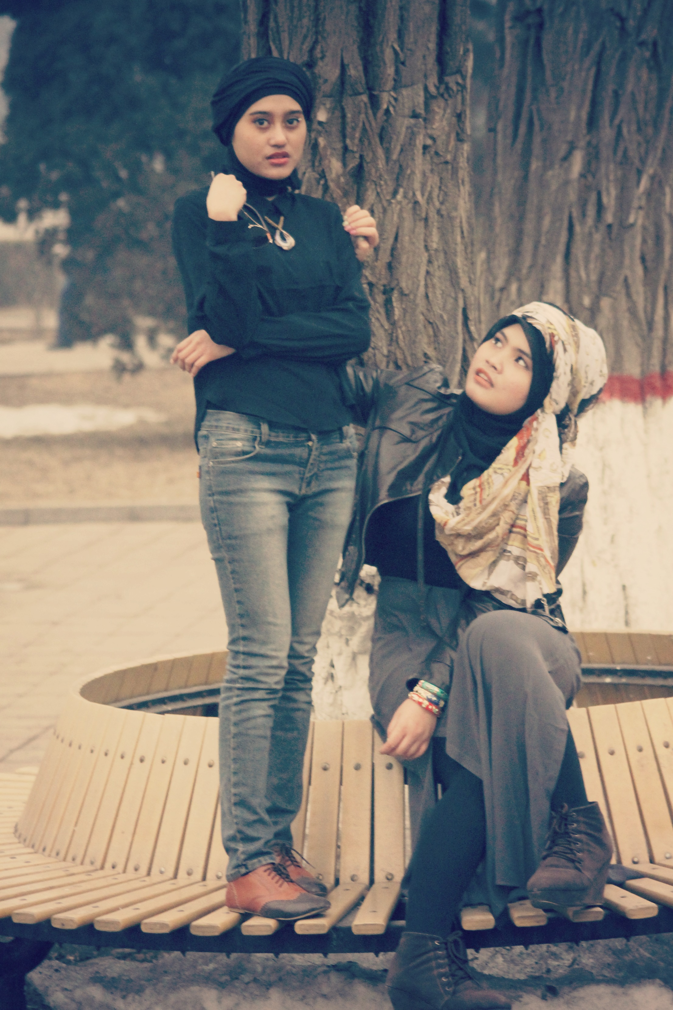 Hijab-Toujin • in winter get style ala summer #vanessa