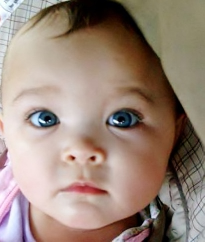 Mixed Newborn Baby Girls With Blue Eyes Mixed babies are cute<3