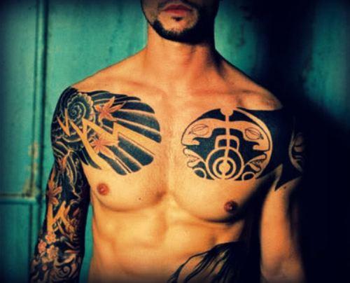 Men tribal tattoo design