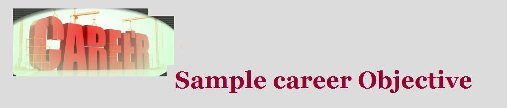 Sample Career Objective