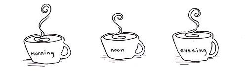 Interesting Coffee Tumblr Drawing On Decor