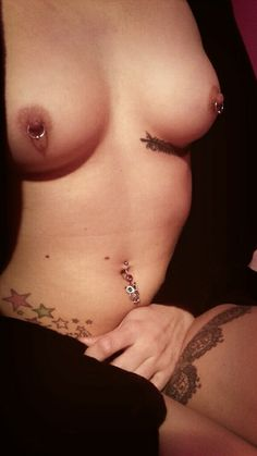 Sexy girls nipple piercings