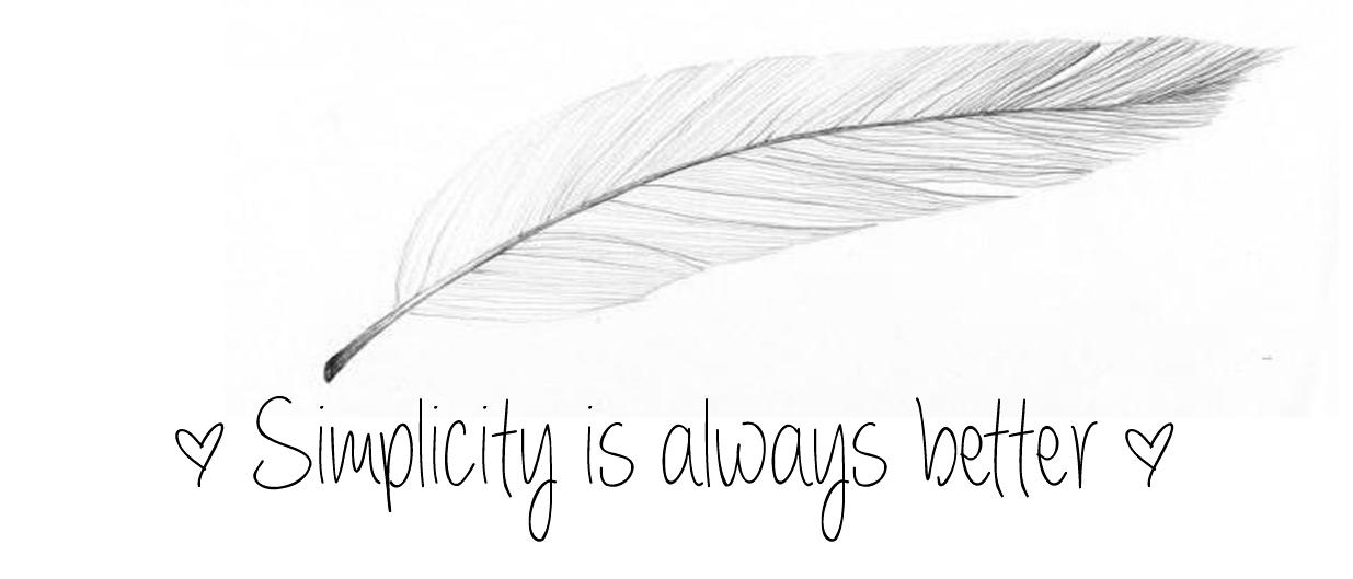 Simplicity is always better