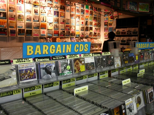 Image result for cd bargain bin