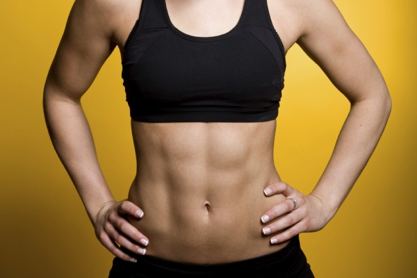 Teen girls with six pack abs