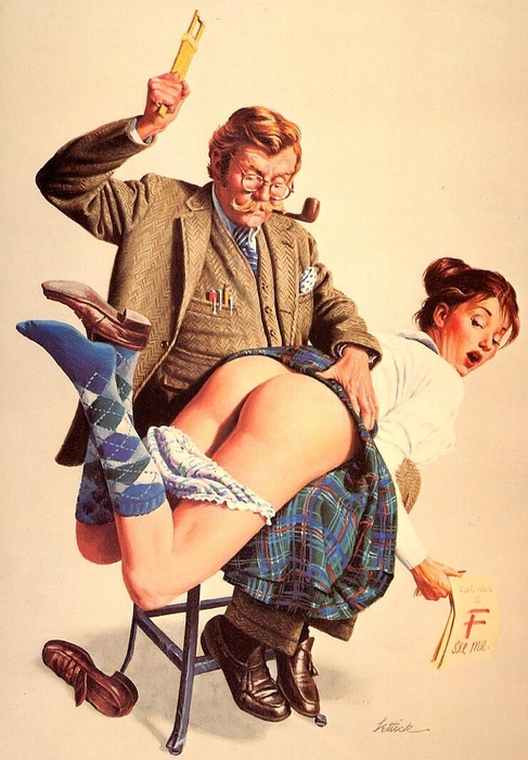 Art by alan lawrence spanking
