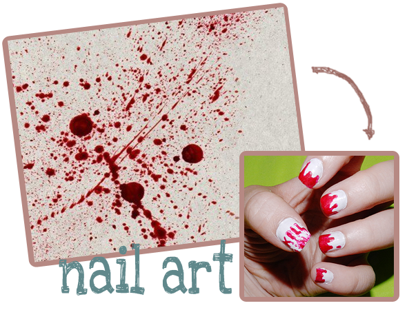 tutorial nail art sangue