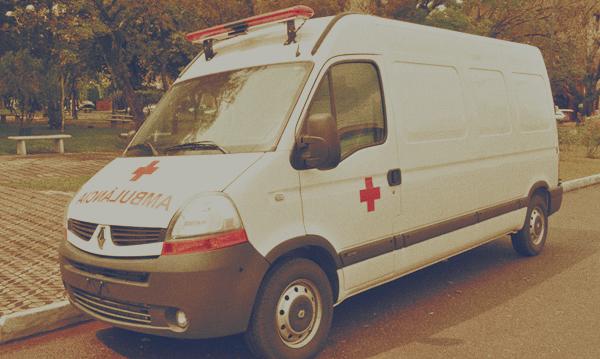 ambulância efeito vintage