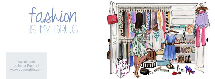 capa facebook closet moda ilustração