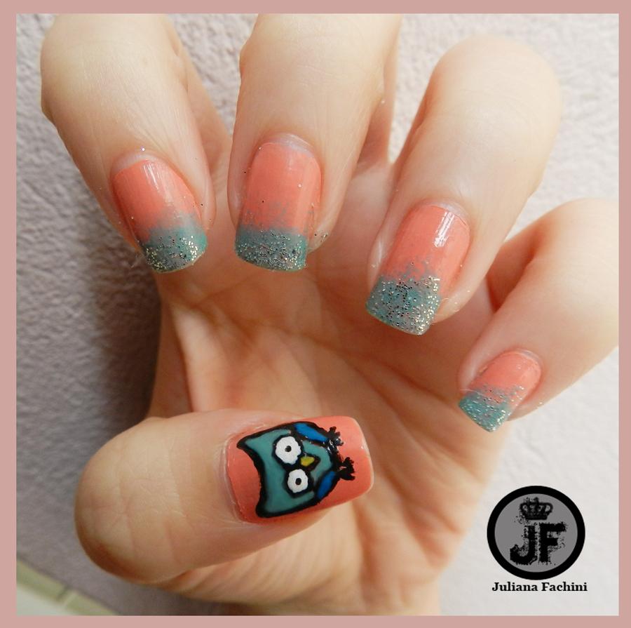 tutorial nail art corujinha