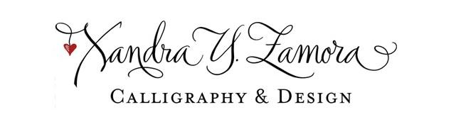 Xandra Y Zamora Calligraphy Design
