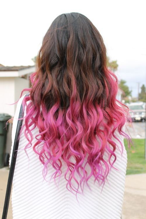 Dark ombre hair color