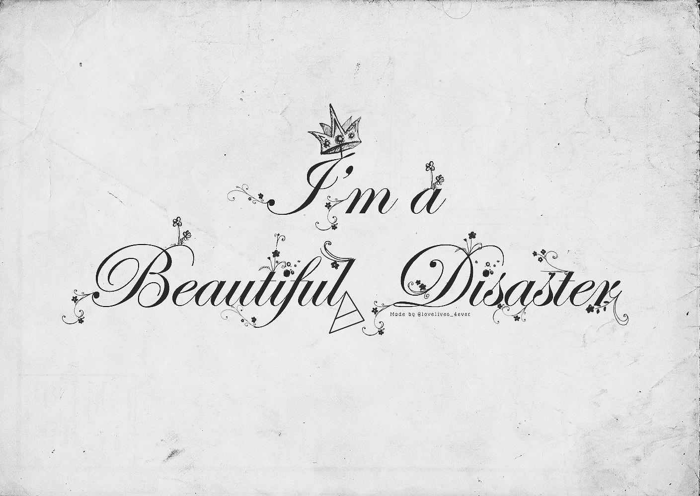 tumblr static beautiful disaster wallpaper 1409