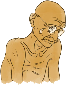 you make gandhi cry