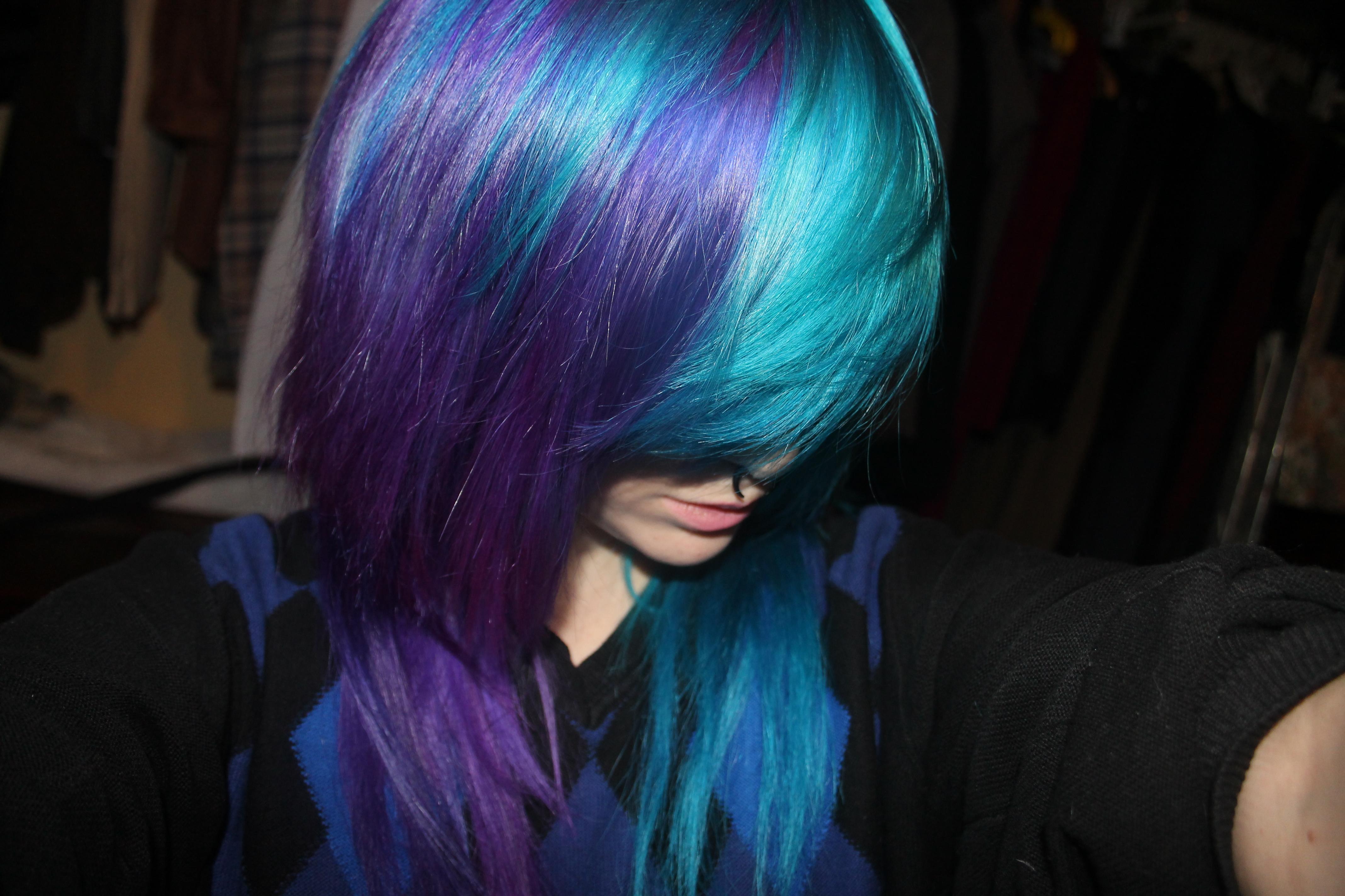 Синие волосы в домашних условиях 478