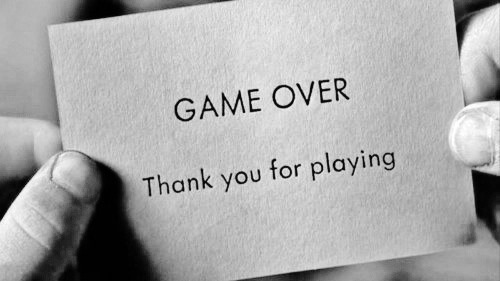 Risultati immagini per game over thanks for playing